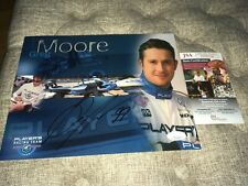 Greg Moore Signed Indy Car Promo Photo Card Deceased JSA Certified