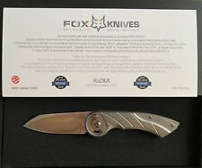 Fox Knives Radius M390 Titanium folding knife FX-550TI
