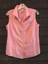 Brooks Brothers 3416 Pink Sleeveless Button Down Shirt Women's 10