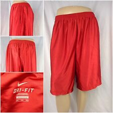 Nike Dri Fit Athletic Shorts XXL Red Poly Pockets Worn Once  F6170 YGI
