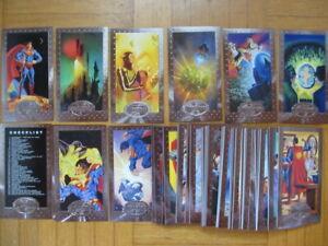 Superman - Man of Steel Platinum WideVision Foil Set 1 - 90 Cards - SkyBox DC