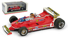 Brumm R577-CH Ferrari 312 T5 #2 Monaco GP 1980 - Gilles Villeneuve 1/43 Scale