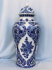 Sehr große 47 cm Deckel Vase echt Kobalt Wallendorf W 1764 Porzellan Topzustand