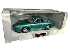 PORSCHE CARRERA 996 COUPE DIE CAST MET GREEN 1/18 BY UT MODELS 27901
