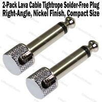 2-Pack Lava Cable Tightrope Solder-Free Right-Angle Plug Patch Solderless NEW