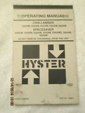 Factory OEM Hyster Challenger Spacesaver forklift Operating service manual Book