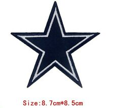 Black Star Embroidered Iron Sew On Patch Applique Badge Motif Biker Goth Rock