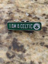 Boston Celtics Lapel Pin, I Am A Celtic. NBA Tatum Brown