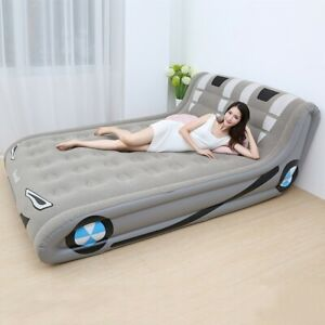 """Portable Inflatable Bed Home Doubled Air Mattress Indoor Outdoor 91×59"""""""
