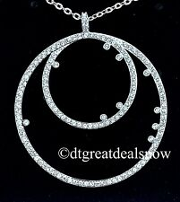 Swarovski Crystal Jewelry MEDAILLON Pendant Necklace Rhodium Plated #5101265 NEW