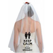 Velo sposa Posso ripensarci?! nozze,anniversario,addio celibato,nubilato,regalo,