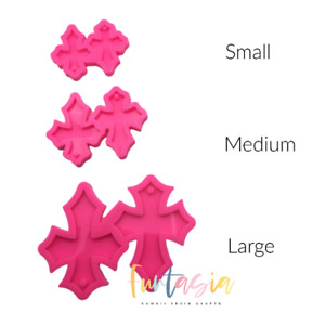 Shiny Cross Earring Silicone Mold, Silicone Mold for Epoxy Resin Crafts