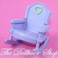 Fisher Price Loving Family Dollhouse Kid Dolls Purple Rocking Chair Nursery