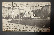 CARTOLINA BERGAMO MONUMENTO A DONIZZETTI VIAGGIATA DEL 1906 SUBALPINA AAA