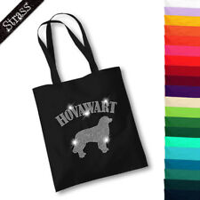Jute Bag Pouch Shopping Bag Bag Shopper Rhinestone Dog Hovawart M1