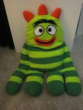 "Yo Gabba Gabba BROBEE Cuddle Pillow Plush Stuffed Animal Toy XL 26"" 2011 Green"