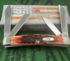 case xx 2002 Red Bone Long Pull Congress Knife Numbered Limited Run Unused Mint