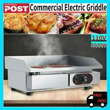 3kw Stainless Steel Commercial Electric Griddle BBQ Grill Pan Hot Plate 220v AU
