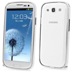 Samsung Galaxy S3 i9300 Schutzcase Schutzhülle Aluminium Alu Bumper in silber