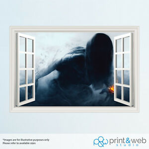 Nøkk 3D Window View Decal Wall Sticker Home Decor Art Mural R6 Phantom Sight