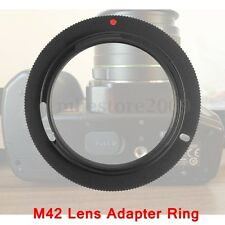 M42-PK Lens Mount Camera Adapter Ring For Pentax KM K-M K-7 K-X K2000 K20D Black