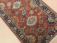 "2'.7"" X 13'.10"" Rust Geometric Fine Oriental Rug Long Runner Hand Knotted Wool"