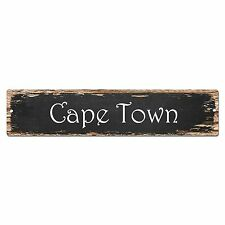SP0165 Cape Town Street Sign Bar Store Shop Pub Cafe Home Room Chic Decor