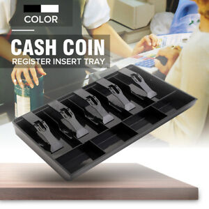 5 Bills 4 Coins Money Tray Store Cash Drawer Security Register Storage Box  #DX