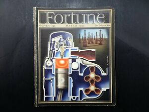 Fortune Magazine March 1939 Vintage Advertising H. J. Barschel Oil Cover Art