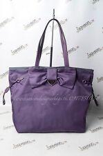 Prada Ribbon Nylon Purple Tote Bag Triangular Logo Authentic Used