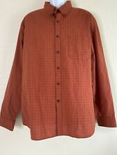 Indian Terrain Men Size 2XL Red Check Shirt Long Sleeve Slim Fit