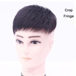 Men's Top Hair Piece Human Hair Toupee Clip in Topper Hair Extensions 16*18cm