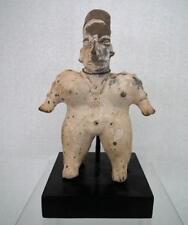 Antique Pre-Columbian Jalisco Polychrome Ceramic Female Figure 200 BC - 200 AD