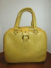 Vintage 1960s American Tourister Mustard Yellow Carry-On Bag/Suitcase Japan
