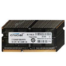 Crucial 64GB 8x8GB DDR3L-12800S 1600mhz 204P 1.35V NON ECC SODIMM Laptop Memory