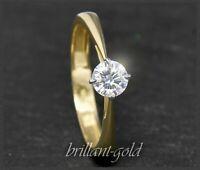 Brillant 585 Gold Diamant Solitär Ring 0,54ct, Top Wesselton; Ring für Verlobung