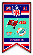 2021 Semaine 5 Bannière Broche NFL Tampa Bay Vs. Miami Dolphins Super Bol