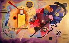 "Wassily Kandinsky.Abstract 2. Art Reproduction 16""x 24"" .FRAMED Box-Canvas"