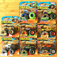 Cars Hot-Wheels Monster Trucks Giant Wheels Crushable Cars Diecast Toy Car 1:64