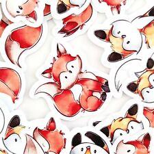 36 Fox Kawaii Stickers, Journal Stickers, Scrapbooking Stickers [Usa]