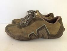 Merrell Relay Fly Dark Moss Green Suede & Leather Trainers - Size 4 (37)