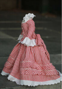 """French Fashion, China, Parian, or Bisque Doll 22""""-24"""" 1870 style Walking Dress"""