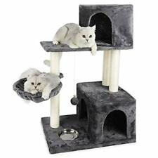 New listing Js Nova Juns Cat Tree, Cat Tower with Sisal-Covered Scratching Posts (Black)