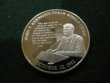 J.F.KENNEDY MISSILE CRISIS 1962 STERLING SILVER PROOF MEDAL LIFE& LEGACY