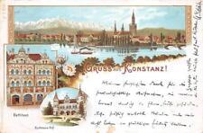 GRUSS AUS KONSTANZ GERMANY RATHAUS POSTCARD 1896