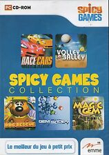 pp Spicy games -5 jeux: Race cars/Volley balley/Dog rescue/Gem slider/Magic gem