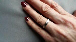 Damen Ring mit drei Diamanten 585 Weissgold