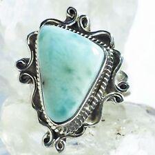 LARIMAR ATLANTIS 5 Ring ECHT 925 Silber Blue Unique Unikat