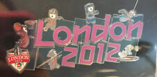 2012 London Olympic Games Mascot Puzzle Complete FACTORY SEALED Lapel Pin Set 👀