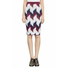 NEW WOMEN'S BCBG MAX AZRIA Leger Colorblock Print Knit Pencil Skirt SZ XS